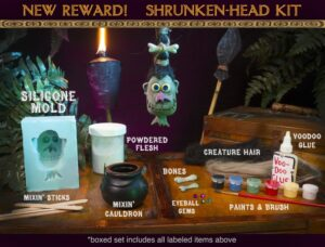 Shrunken Head Kit The Witch Doctor - Screen Novelties - Kick Starter The Witch Doctor – Screen Novelties – Kick Starter Shrunken Head Kit 300x228