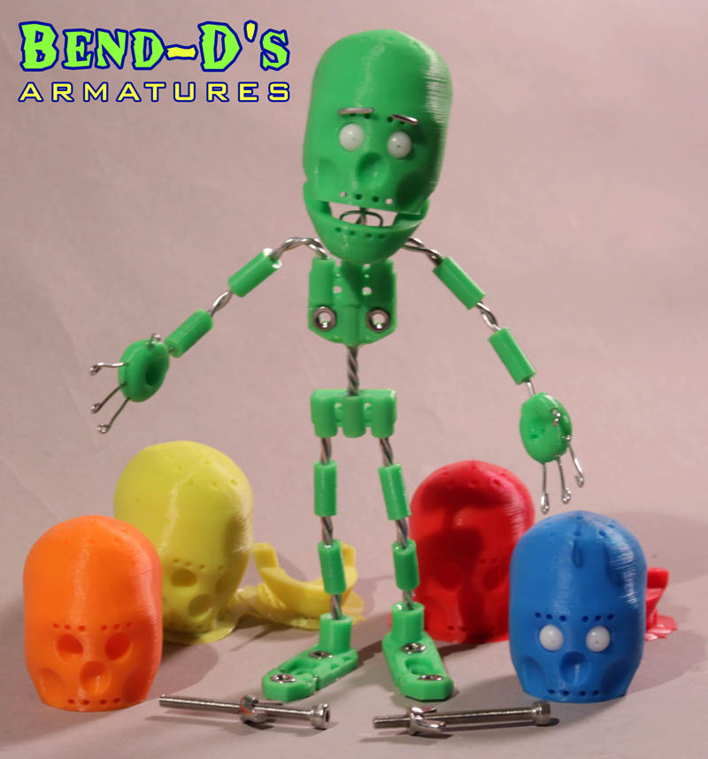 Bend D's Armature Kits – Animate Clay Product – Stop Motion Magazine