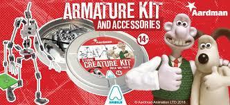 Aardman partners with Global retailer Animation Toolkit to launch Armature kit aardman ToolKit