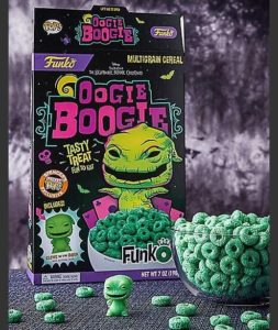 Photo via Funko Pop! Now you can eat Oogie Boogie Cereal! funko pop cereal oogie boogie 253x300
